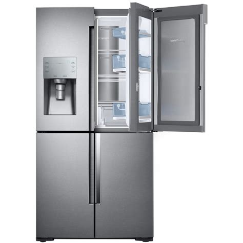 refrigerator counter depth door shop samsung 4 door flex with food showcase 22 1 cu ft 4 door counter depth door