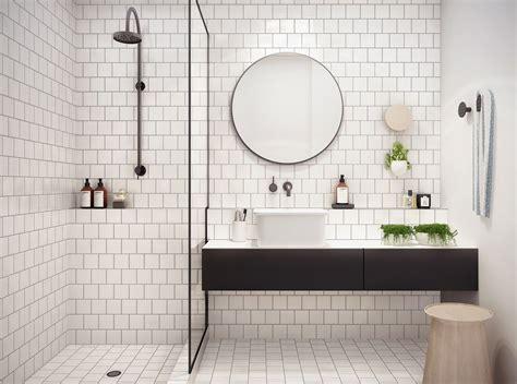 Badezimmer Fliesen Platzen by Simple Geometric Bathroom Studio You Me Via The Design