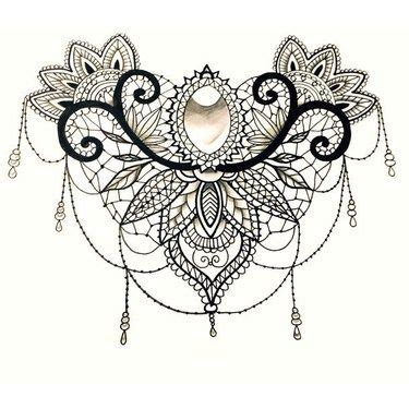 lace design tattoo collection 79