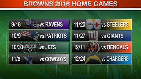 cleveland browns release 2016 regular season schedule