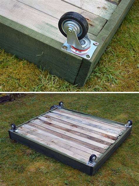 Wheeled Pallet Planter Diy Instructions Lovely Greens Planters On Wheels