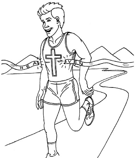 teenager running coloring pages coloring pages