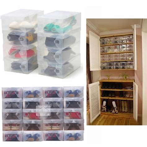 shoe organizer 2016 high quality 10pcs lot foldable plastic shoe storage