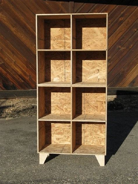 modular osb bookshelf cubby storage two unfinished
