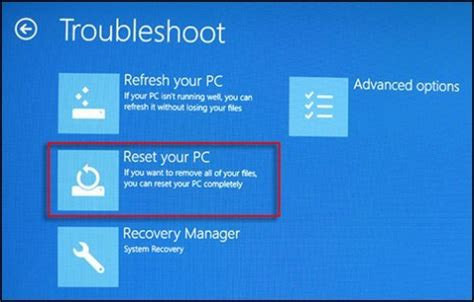 hp resetting your pc 1 hp pcs resetting your pc to resolve problems windows 8