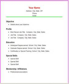 functional resume templates basic resume templates
