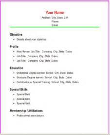 Functional resume templates   Basic Resume Templates