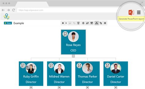Orgweaver Org Chart Software Make And Share Online Org How To Make An Organizational Chart In Powerpoint 2010