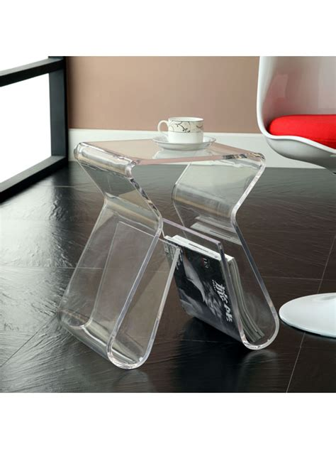 clear acrylic side table acrylic side table brickell collection modern furniture