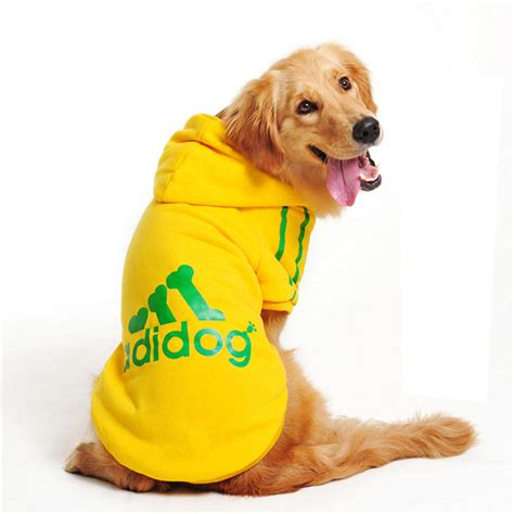 puppy clothes adidog large pet clothes winter warm hoodie coat jacket clothing for medium large