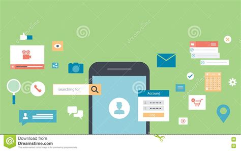 banner design application vector illustration of mobile application development