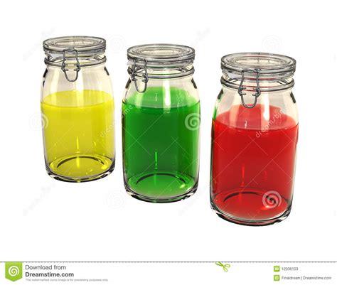 colorful jars three colorful preserving jars stock photos image 12036103