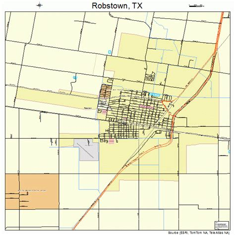 map of robstown texas robstown texas map 4862600