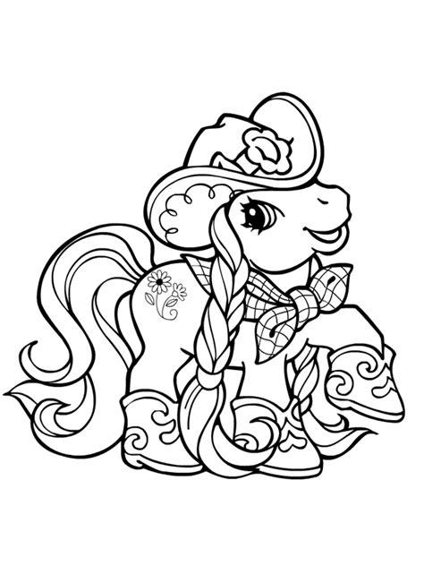 Coloriage a imprimer petit poney cow girl gratuit et colorier