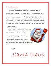 Free Santa Reply Letter Template Free Letters From Santa To Print Dear Santa Letters