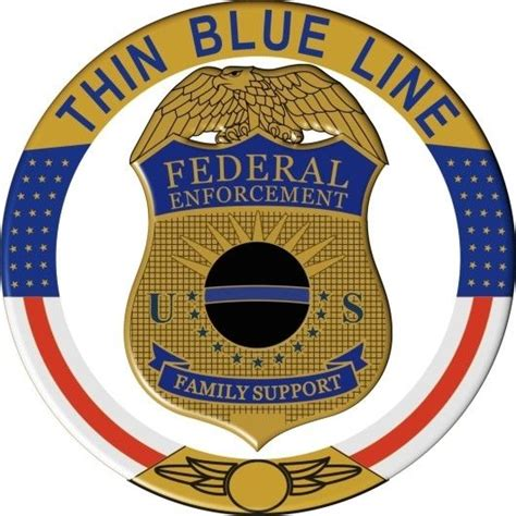 Federal Gift Card Law - thin blue line family support federal law enforcement reflective decal ebay