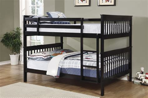 Black Full Over Full Bunk Bed 460359 Coaster Furniture Black Bunk Bed