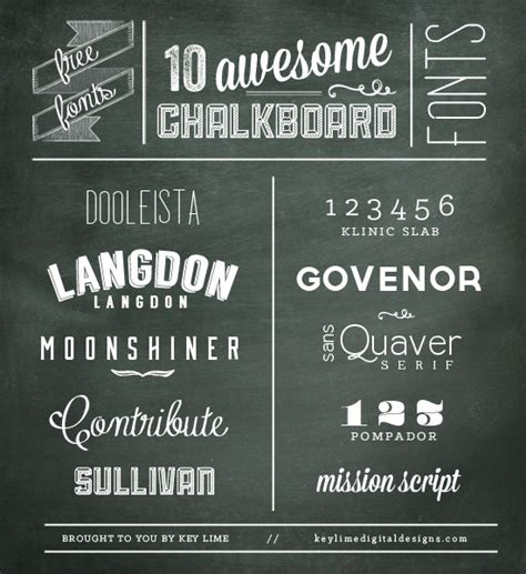 design digital font 10 more free chalkboard fonts
