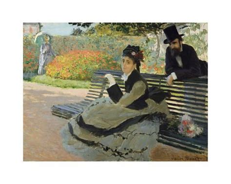 camille monet on a garden bench camille monet on a garden bench 1873 premium giclee print