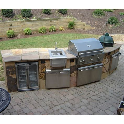 Outdoor Kitchen Islands Curved Custom Outdoor Kitchen C 01 Woodlanddirect Grilling Islands Kitchens Elite