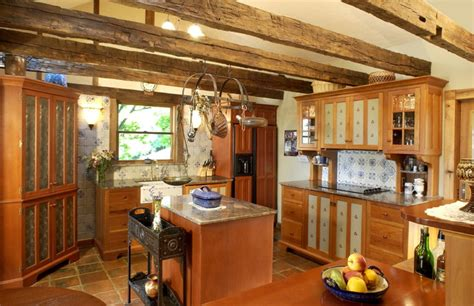 kitchen rustic kitchen other metro by peace design restored log framed kitchen rustic kitchen