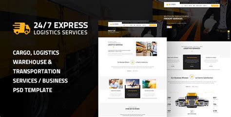 Express Logistics Transport Logistics Html Template 24 7 express logistics services psd jogjafile