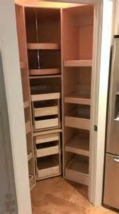 shelfgenie glide out shelves for a corner pantry new