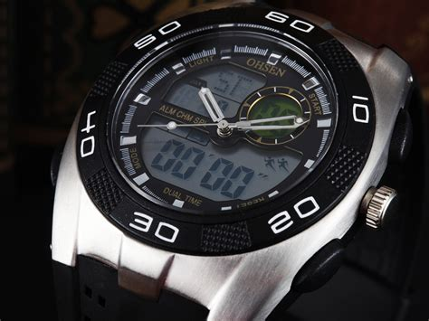 Jam Tangan Pria Wanita Original Ohsen Waterproof Anti Air Led Digital ohsen waterproof quartz digital sport ad0828 1