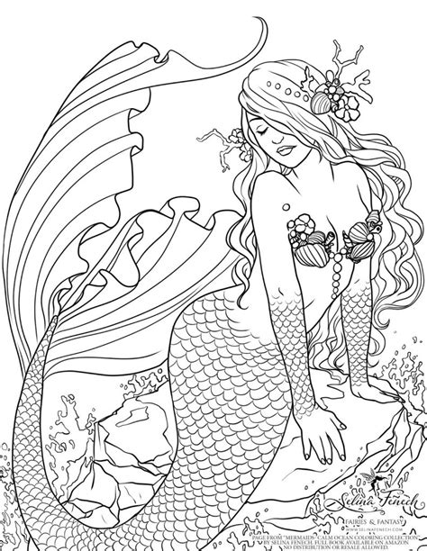 intricate realistic mermaid coloring pages other art