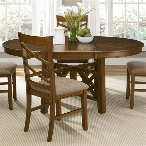 round dining table with leaf seats 8
