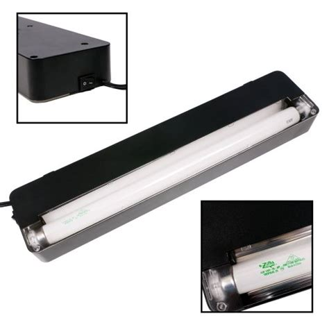 18 inch fluorescent light zilla slimline reptile fluorescent lighting fixture with 3