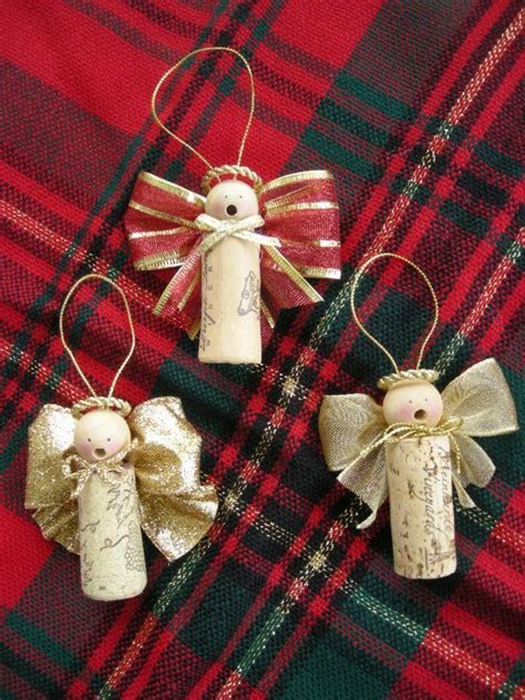 wine cork angel ornaments christmas crafts pinterest