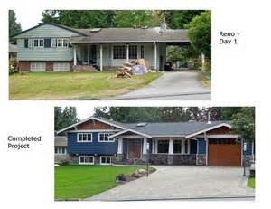 House Curb Appeal Remodeling - split level exterior before after google search curb