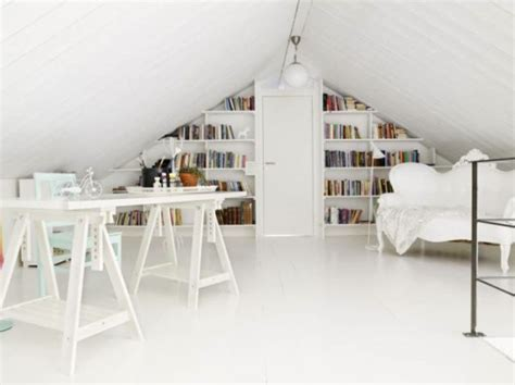 Attic Study Room by 30 Cozy Attic Home Office Design Ideas