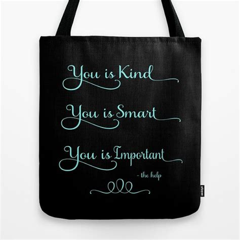 color purple quotes you is smart you is tote the help tote tote bag quote tote