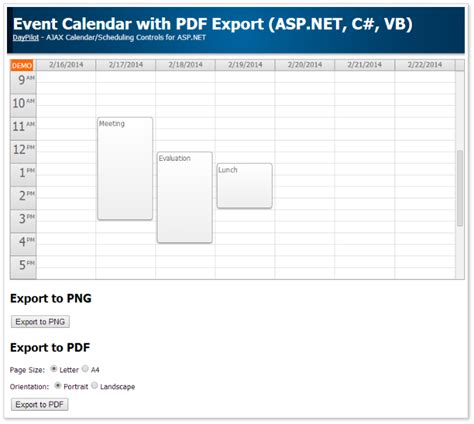 printable area vb net tutorials daypilot for asp net webforms ajax calendar