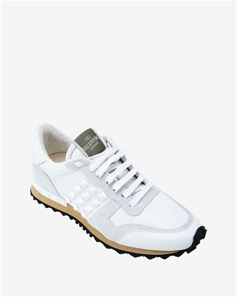 s valentino sneakers lyst valentino rockstud sneakers white in white