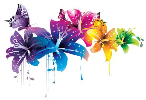 wallpaper flower png colorful flower vector clipart png by briellefantasy on