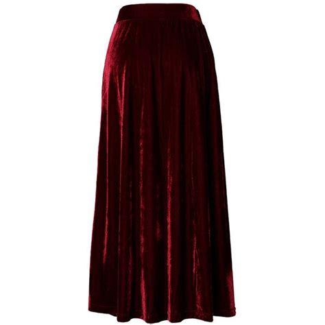 Velvet Pleated Maxi Skirt chicwish velvet pleated maxi skirt in wine 42 liked
