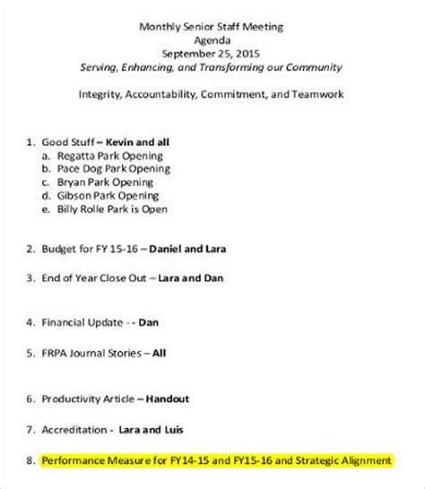 monthly meeting schedule template agenda month template pictures to pin on pinsdaddy