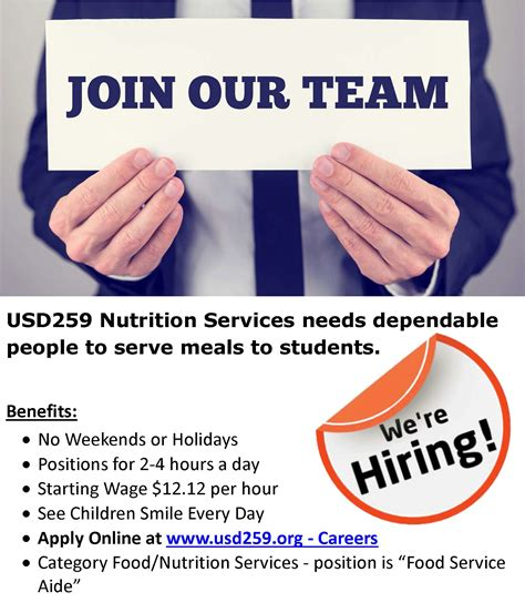 Nutrition Services Who We Are We Are Hiring Flyer Template