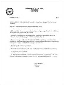 Appointment Letter Usaf Best Photos Of Army Justification Memo Example Army