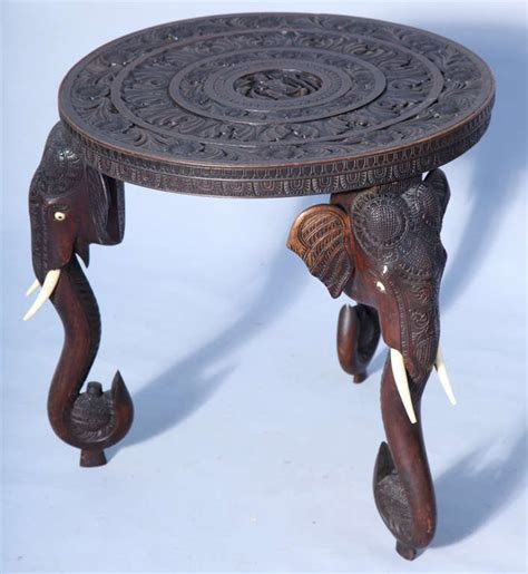 anglo indian elephant accent table at 1stdibs