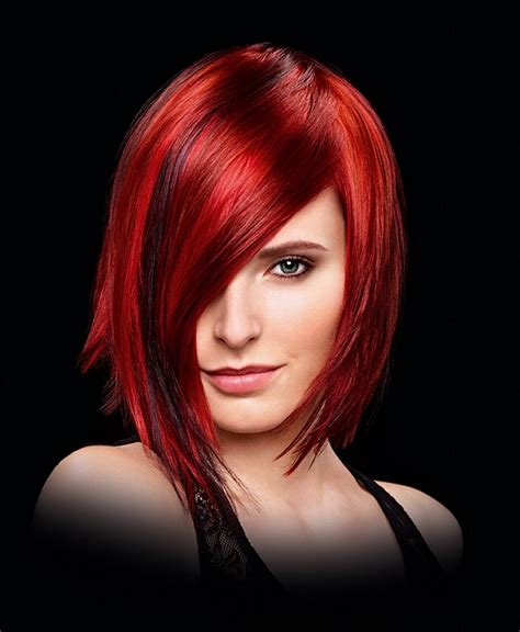 wella hairstyles a medium red hairstyle from the wella collection no 22574