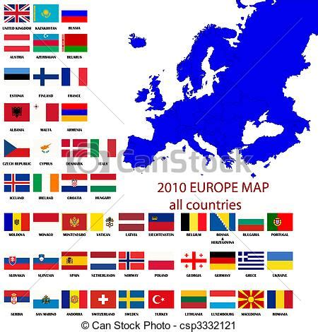 all flags map clipart de europe carte carte de europe tout pays