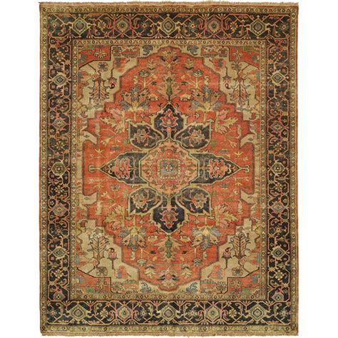India Wool Rugs by Size 3 0 Quot X5 0 Quot Serapi Collection Knotted Wool Rug