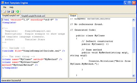 template xml xml template engine code generator in net codeproject