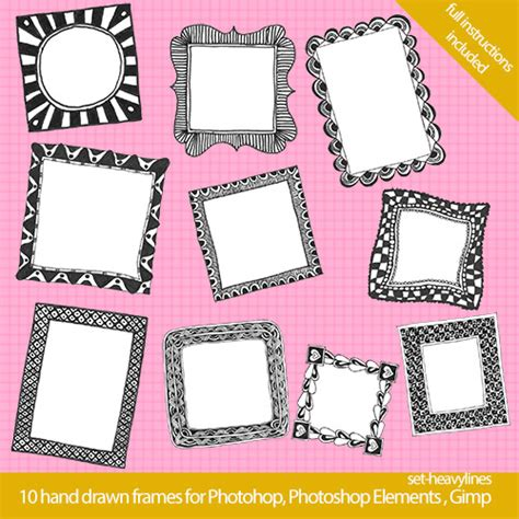 cool frame designs awesome download cool hand drawn image frames crafting