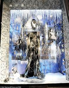 Upside Down Chandelier Bergdorf Goodman Unveils Holiday Windows With Show