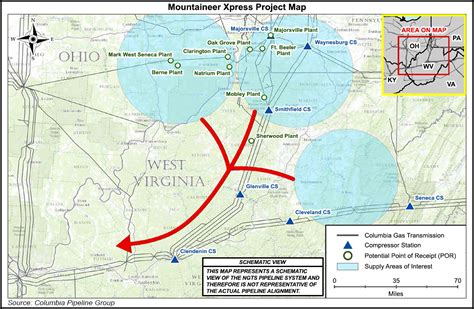 express pipeline map ferc oks pre filing review for tco s mountaineer xpress